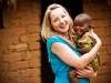 With a happy little girl in Tanzania on a World Vision trip